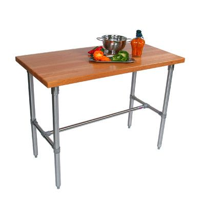 John Boos Cucina Americana Clico Prep Table With Wood Top Wayfair