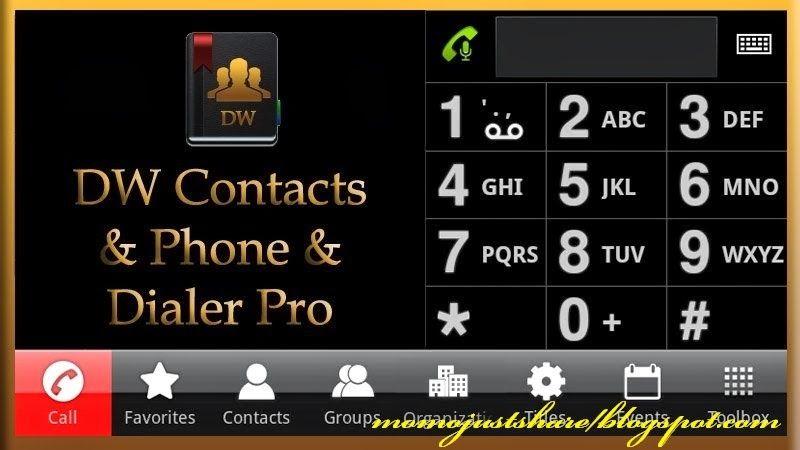 App Dw Contacts Phone Dialer V2 6 0 6 Pro Apk Informasi Teknologi Android Aplikasi Android Telepon