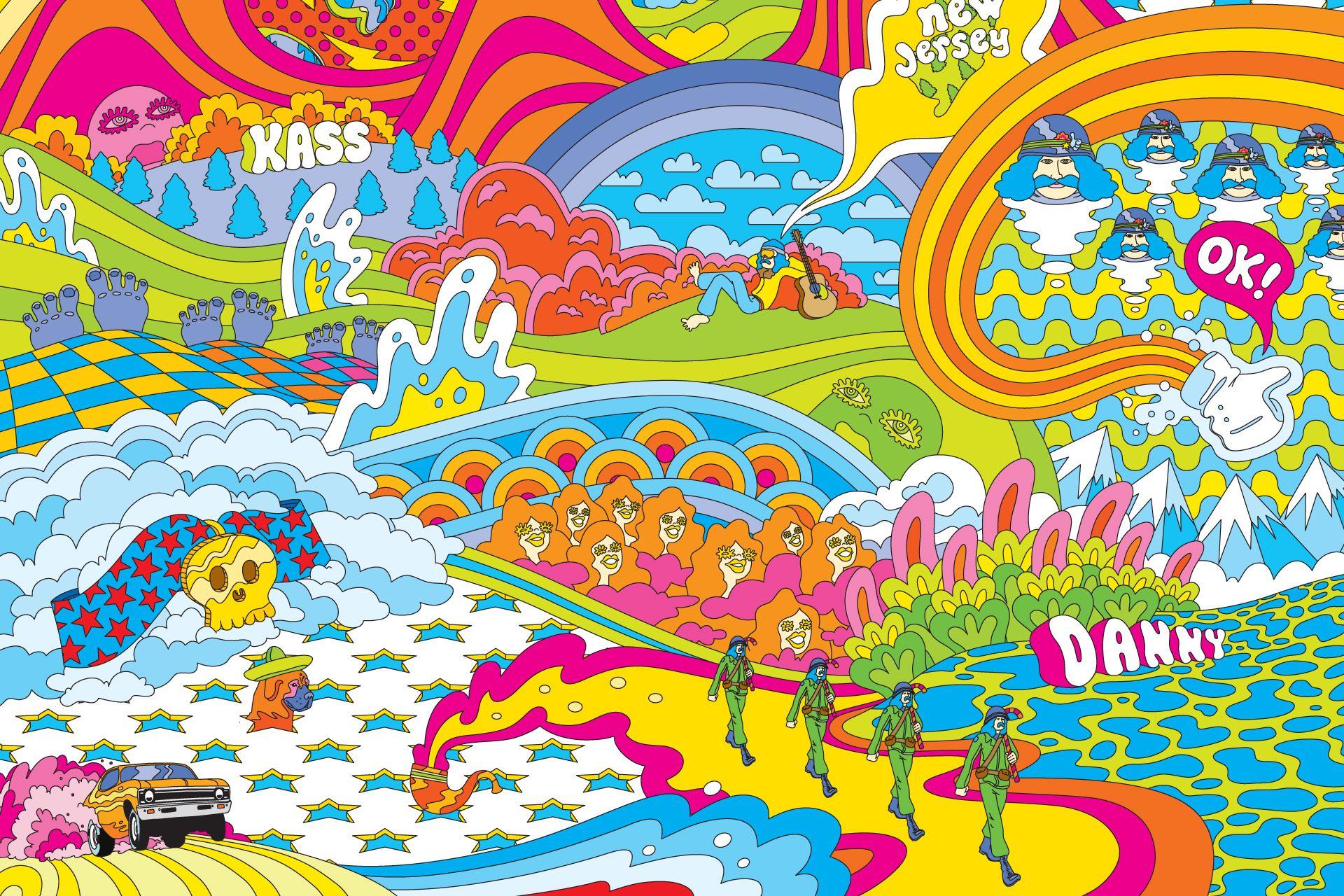 dessin hippie