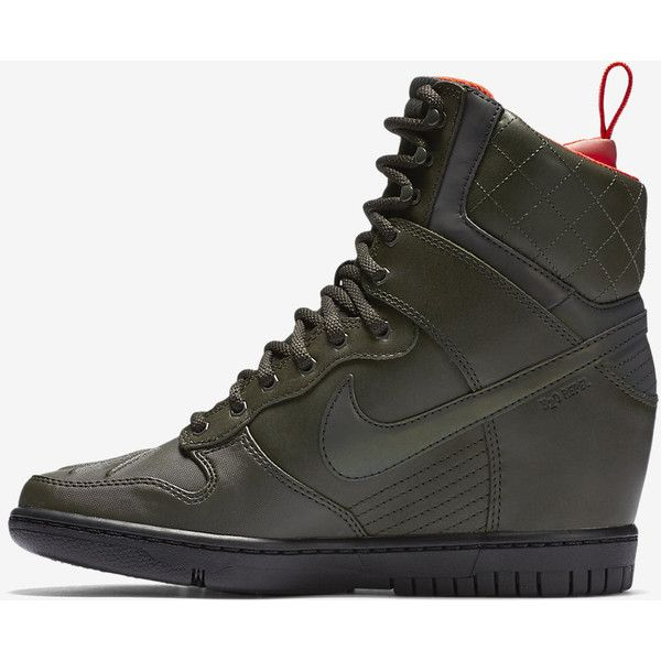 Nike Dunk Sky Hi SneakerBoot Reflective Women s Shoe. Nike.com ( 190) ❤  liked on Polyvore featuring shoes f10c91a93