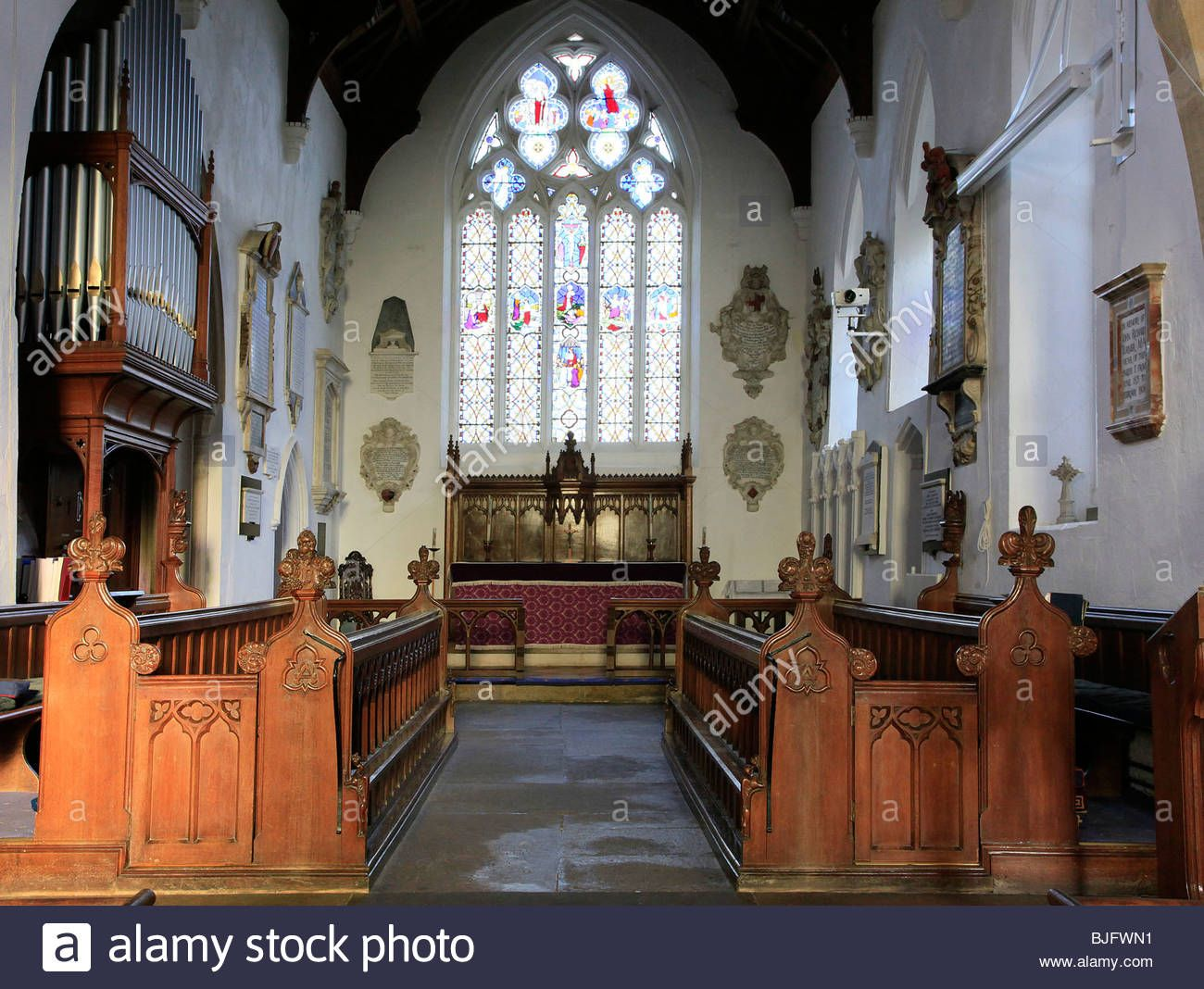 Interior Of A Typical English Country Church In Wiltshire England Stock Photo Royalty Free