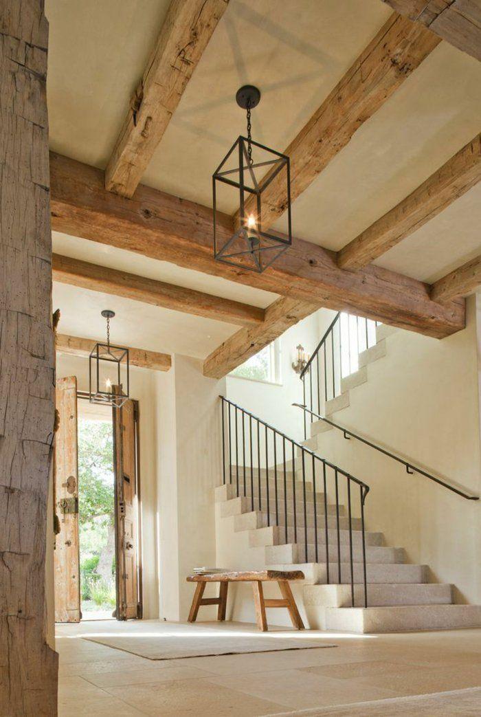 Wp content uploads 2015 10 1 poutre bois massif pour decorer bien l interieur de la - Escalier bois interieur ...