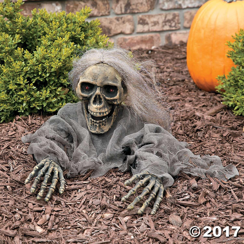 Try Me Skeleton Grave Breaker Animated halloween decorations - outdoor halloween decorating ideas