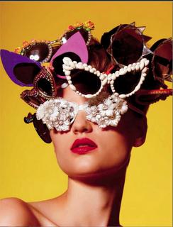 Collectors Love Love Love MERCURA NYC Eyewear & Bo: BG Magazine features Mercura NYC Funky Crystal, Rose & Orchid Sunglasses