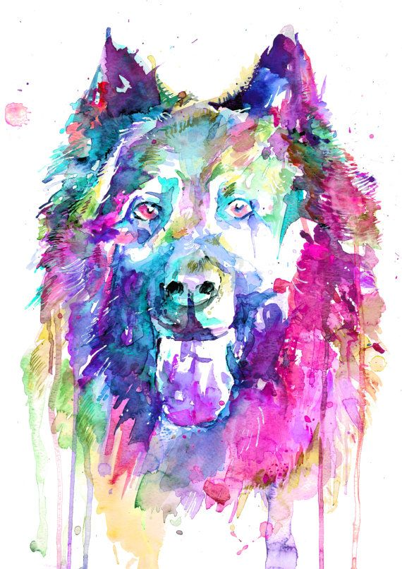 Check Out Original German Shepherd Dog Watercolor Art Print