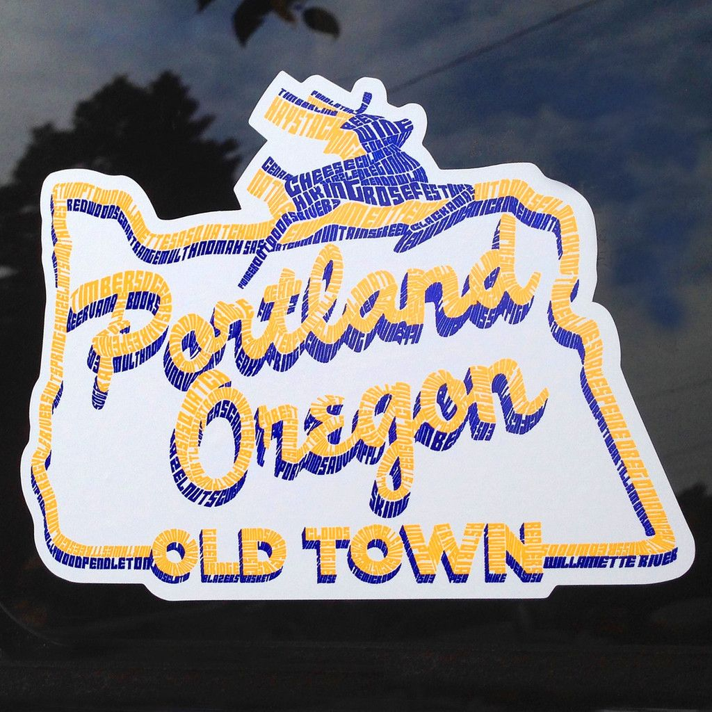 White Stag Sign Portland Oregon Sticker Oregon Portland Oregon Portland