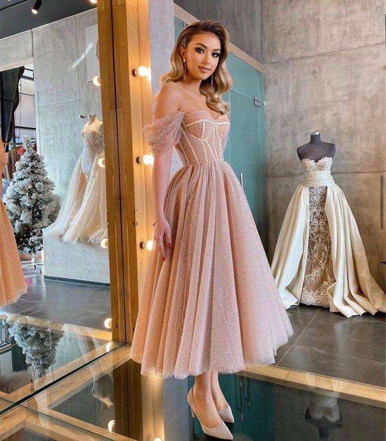 Dusty Pink Corset Midi Dress