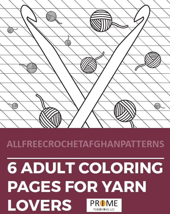 6 Yarn Coloring Pages for Adults | Adult coloring pages ...