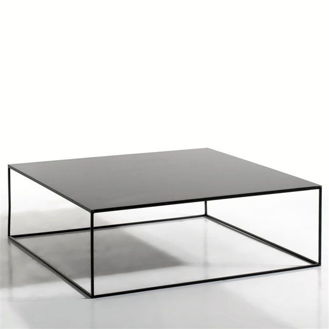 Table basse m tal carr e romy table basse metal poxy et table basse - Table basse carree metal ...
