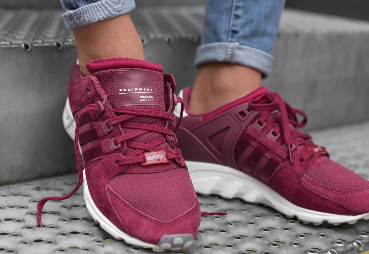 the latest 0706c cc3e7 adidas Originals EQT Support RF Womens Ruby Red Purple Trainers Fashion  Shoes. Available to buy