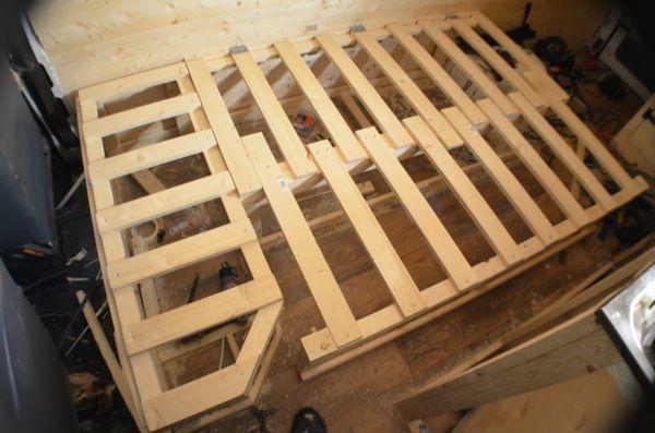 An Extending Bed In My Diy Van Conversion Aa Van