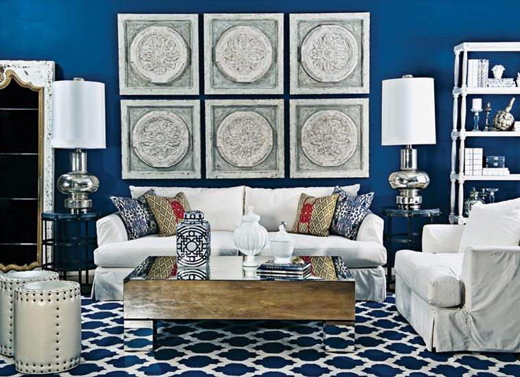 Andre slipcover sofa azure and alabaster eclectic living room high fashion home