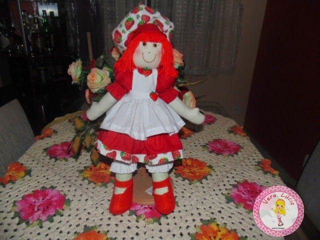 Vera Farias Arte e Design: Boneca Moranguinho (50cm)