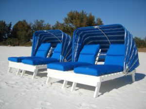 Covered Beach Lounge Chairs
