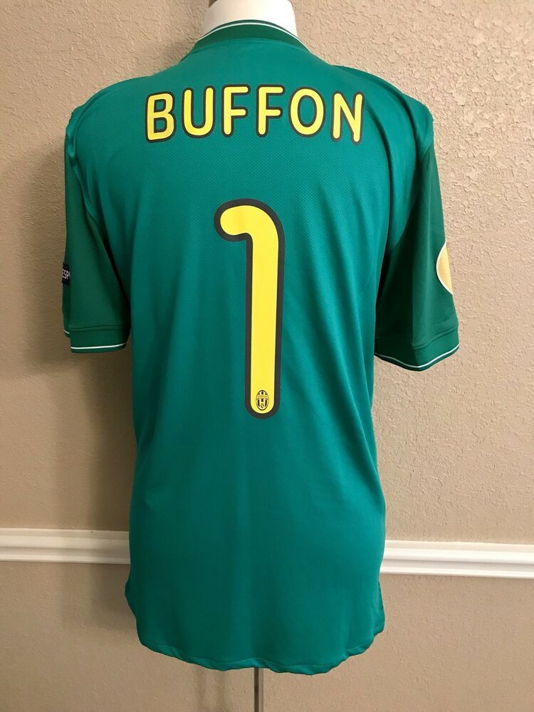 Italy Juventus Buffon Football Nike Shirt Player Issue Match