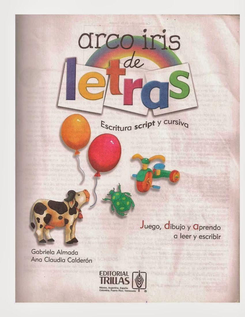 La nueva educación. Inicios: LIBRO: ARCOIRIS DE LETRAS - ESCRITURA ...
