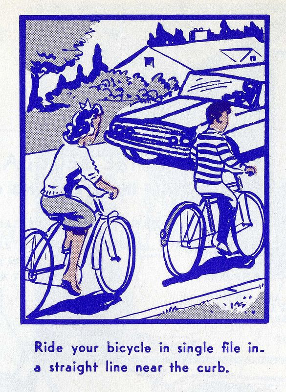 An Illustrated Vintage Bicycle Safety Manual Circa 1969 With Images Bicycle Safety Bicycle Bike Poster
