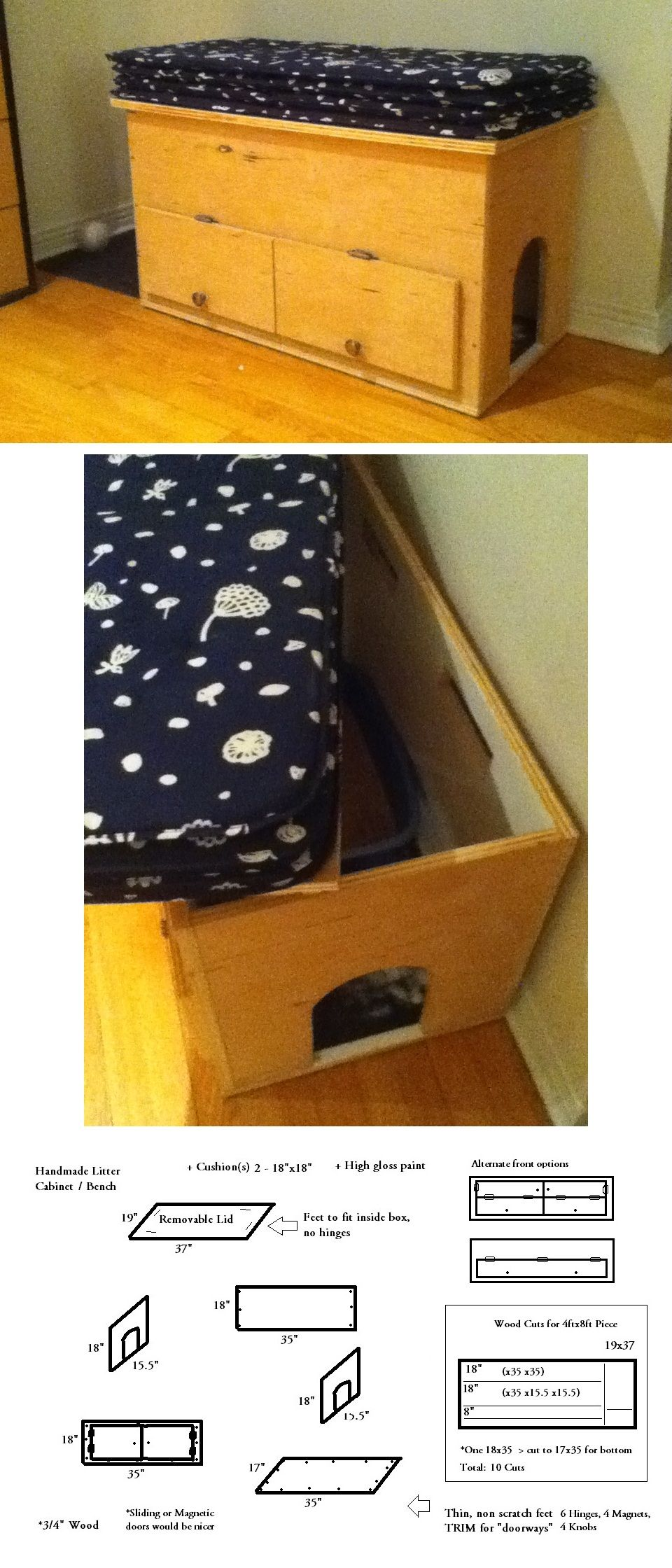 Diy Cat Litter Box Bench ~ This Has Been The