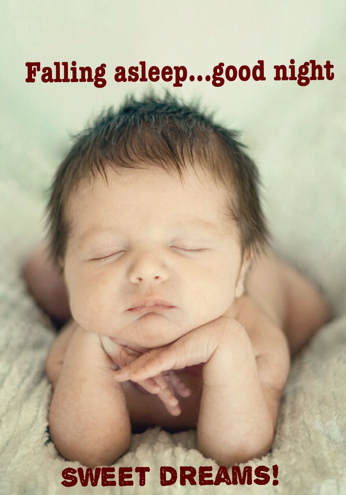 Cute Good Night Baby Wishing Everyone Sweet Dreams Humour