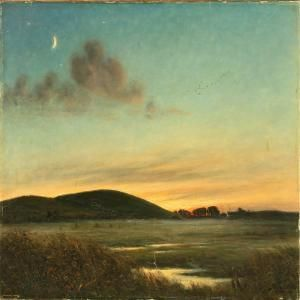 Hans (Hilsoe) Hilse (1871-1942): Moonlight Above A Hilly Landscape, 1910