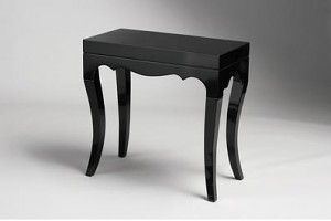 Charmant Small Black Console Table Has Four Legs And Was Designed To Increase  Strength And Stability And An Enough Room For A Vase And A Lamp Shade.