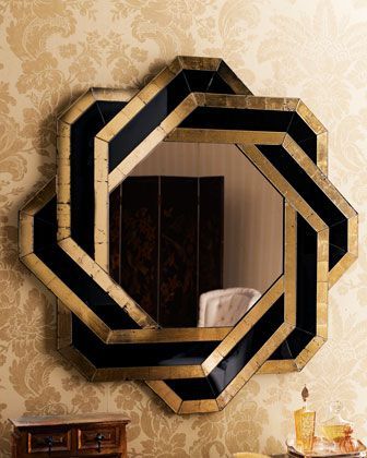 Art deco inspired #home #decor by Neiman Marcus - knot mirror