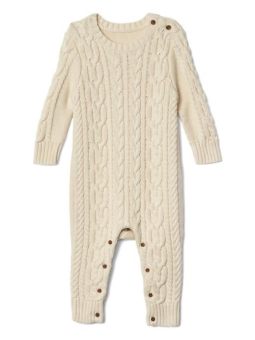 e8213ad33d76 Gap Baby Cable-Knit Sweater One-Piece French Vanilla