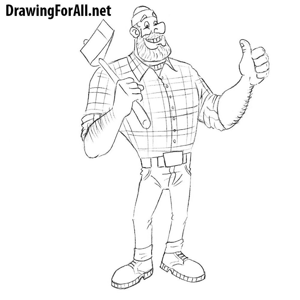 How To Draw Paul Bunyan Paul Bunyan Drawings Cartoon Styles