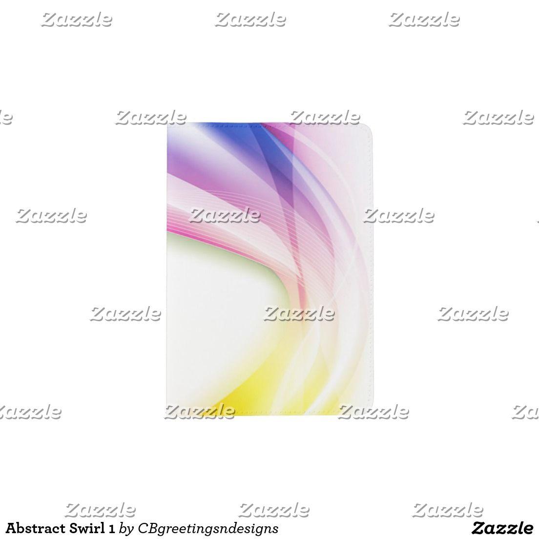 Abstract Swirl 1 Passport Holder