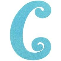 11 1 2 Turquoise Glitter Letter C Hobby Lobby Glitter Letters Lettering Vinyl Wall Decals