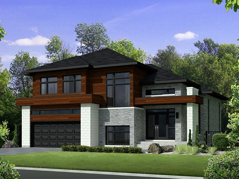 Contemporary Style House Plan 3 Beds 2 Baths 2329 Sq Ft Plan 25 4280 Modern Style House Plans Modern Contemporary House Plans Contemporary House Plans