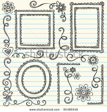 Easy to draw border designs frames and borders hand drawn also rh pinterest