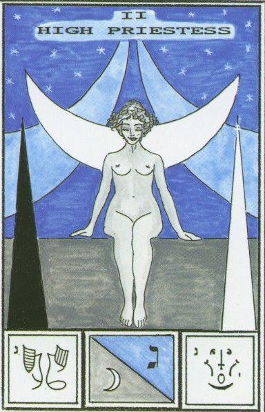Atu II -- High Priestess - Tarot of Ceremonial Magick