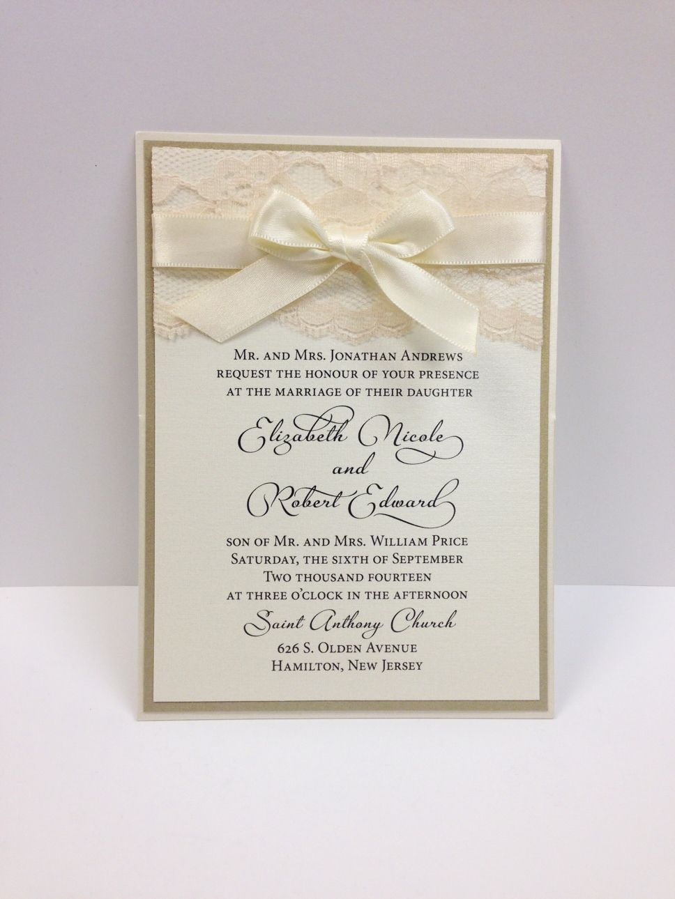 Custom Wedding Invitations In Princeton And Hamilton Nj
