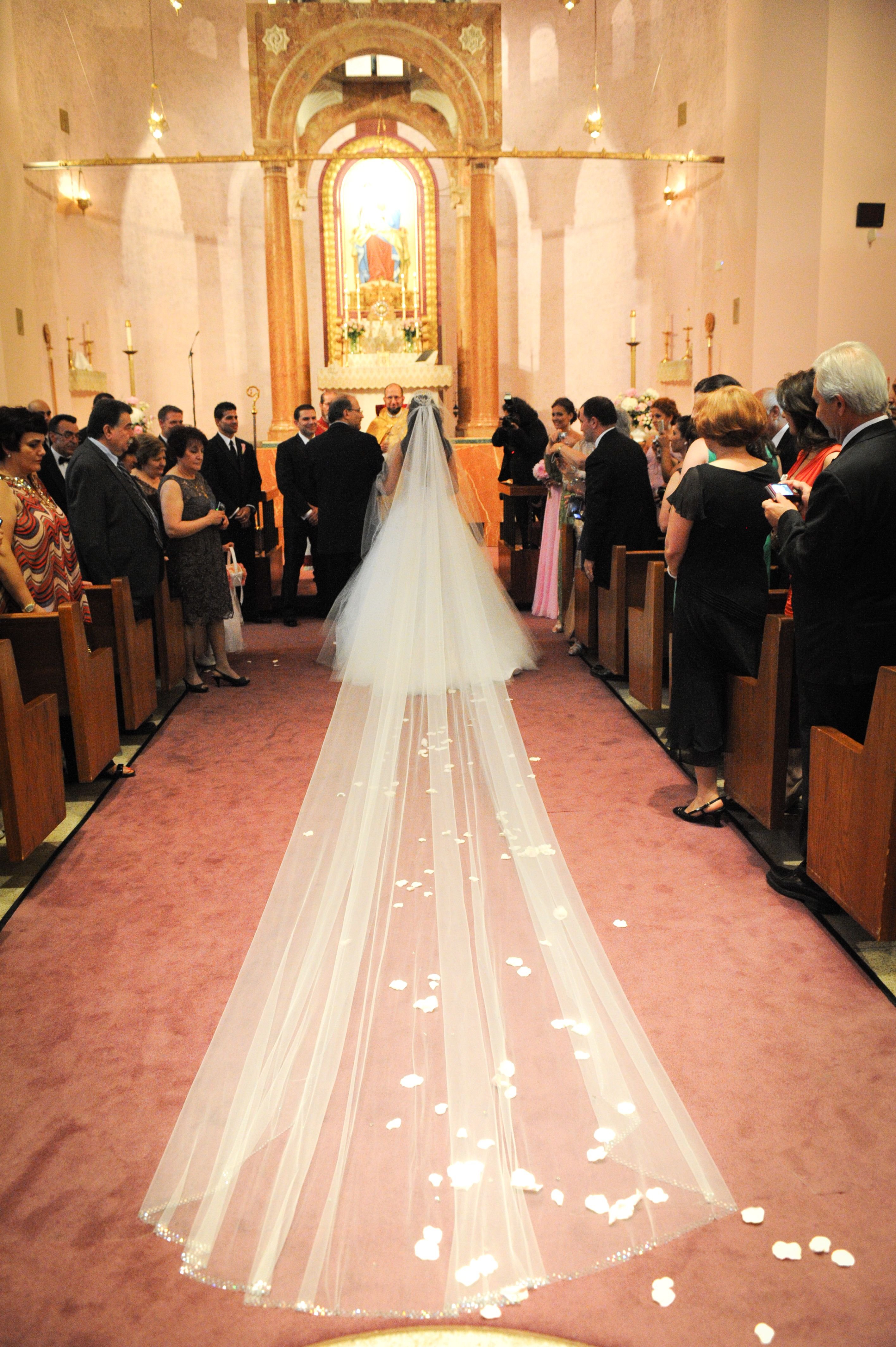Cathedral Veil with crystals ) Princess wedding