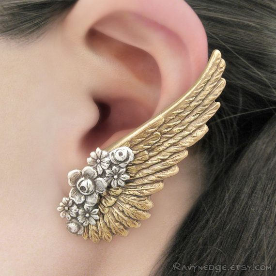 Serenity Br Angel Wing Earrings Clip On Earring Steampunk Jewelry Gothic Statement Dramatic