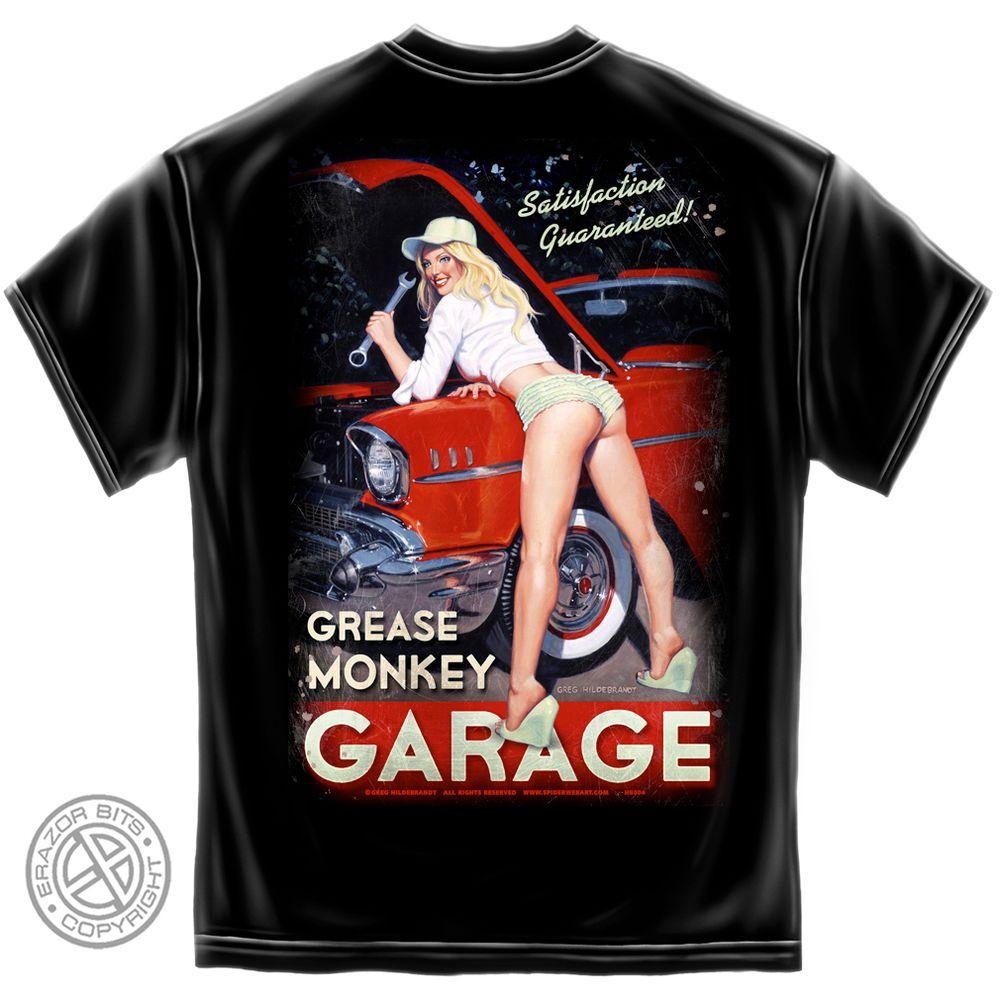 50d808f08 GREG HILDEBRANDT T Shirt Hot Rod Car Chevy Pin Up Girl USA Tee S M L ...
