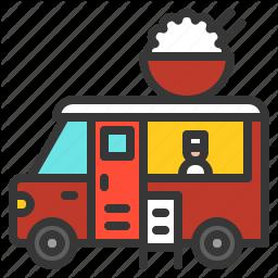 Commerce Fast Food Food Shop Transport Truck Icon Download On Iconfinder Fast Food Truck Icon In Season Produce
