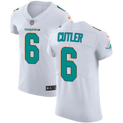 Nike Dolphins  6 Jay Cutler White Men s Stitched NFL Vapor Untouchable Elite  Jersey cfba8d1be