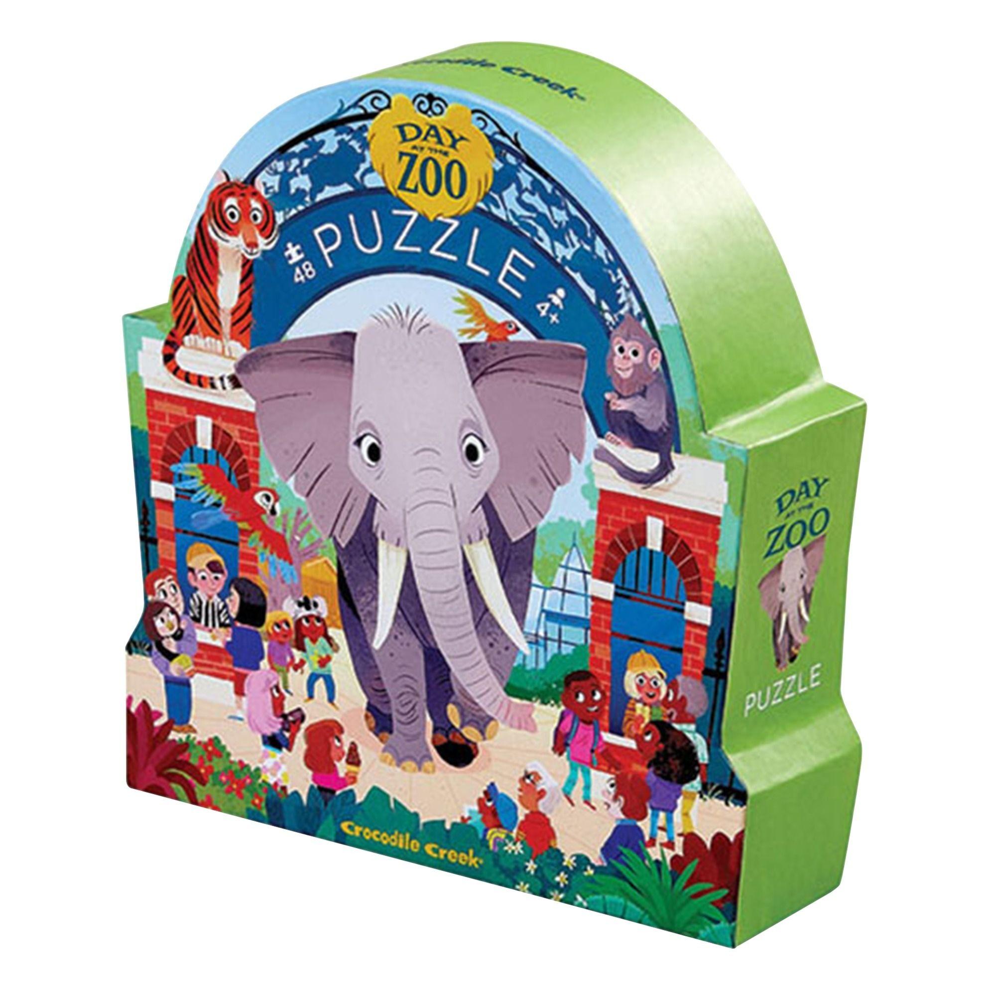 Puzzle Une Journee Au Zoo 48 Pieces Crocodile Creek Jouet Et Crocodile Creek Crocodile Creative Kids