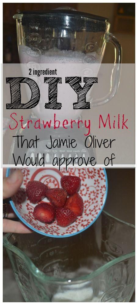 DIY Strawberry Milk {21 day fixers use almond milk and strawberries...}