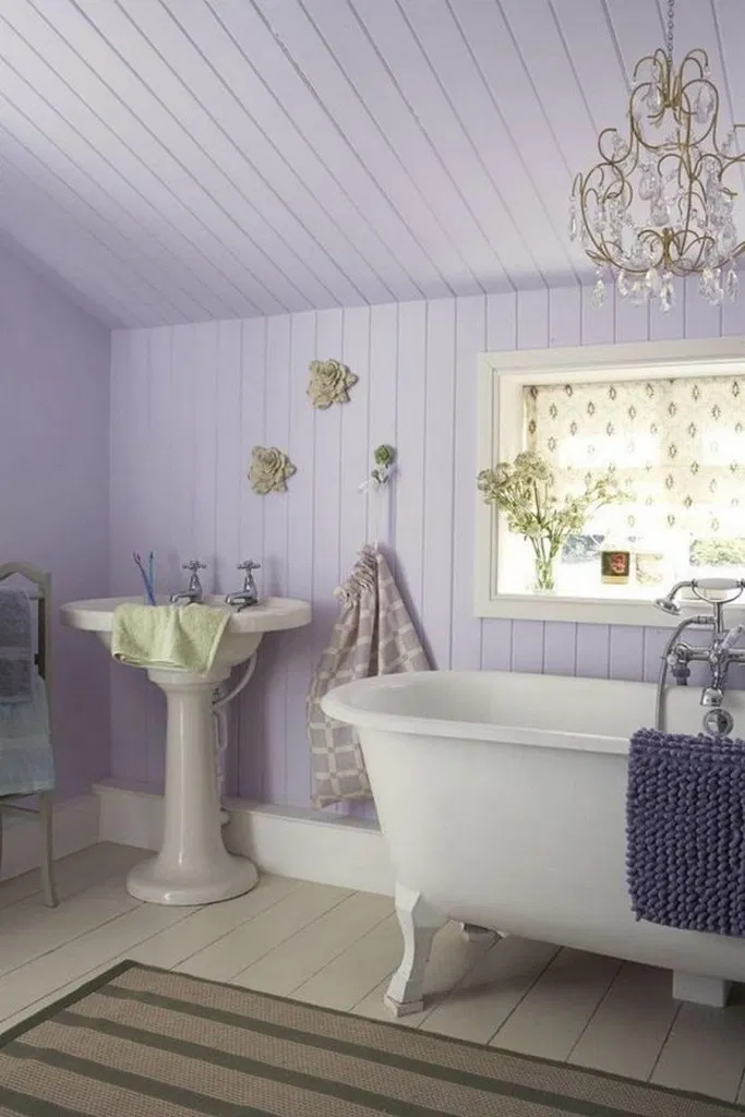 ✔15 Great Pastel Color Ideas that You Can Choose to Change Your Bathroom #pastel #color #wall #decoration #bathroom #bathroomideas #pastelbathroom #wallpaint | flamming.com