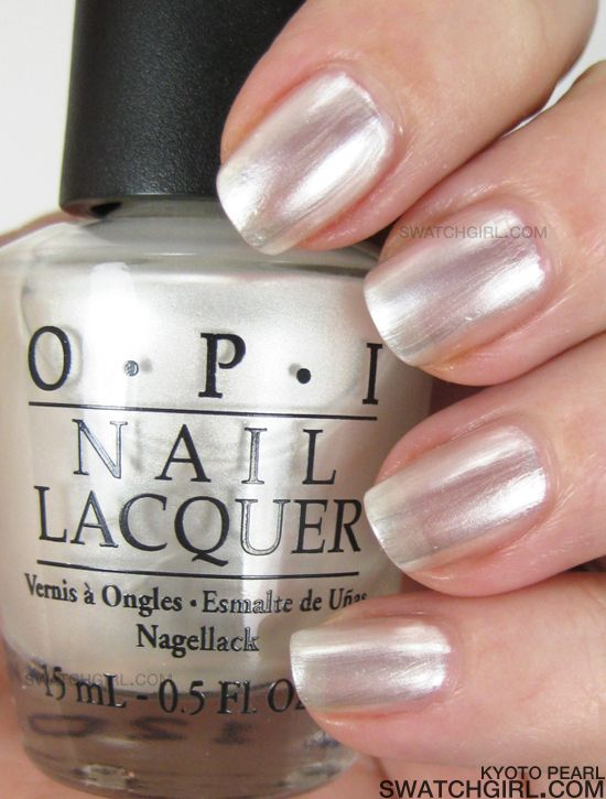 Opi Kyoto Pearl Is A Sheer Pearly Frosty White Nail Lacquer The Finish Isn T Frost Or Blingy Metallic But It S Pretty Bang On Duplicate