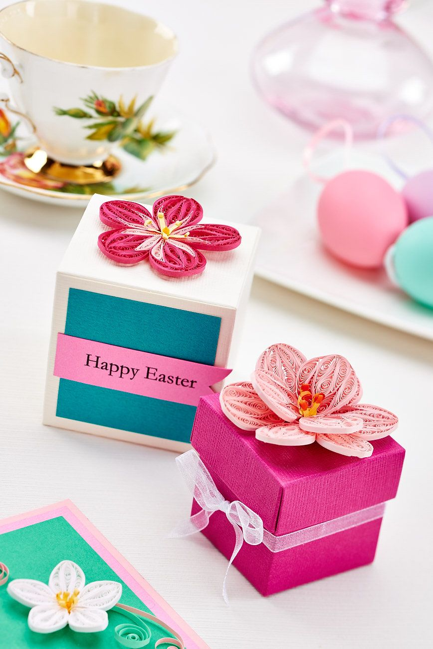 Enclose easter gifts in these sweet quilled flower boxes we show enclose easter gifts in these sweet quilled flower boxes we show you how in our negle Images
