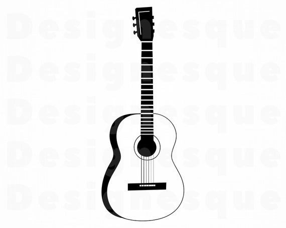 Guitar Outline Svg Guitar Svg Guitar Outline Clipart Guitar Etsy Clip Art Guitar Outline Svg