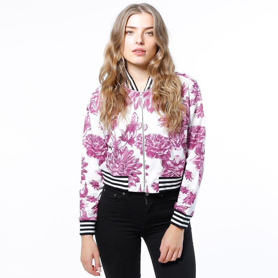 Zip Crew - Floral Pique