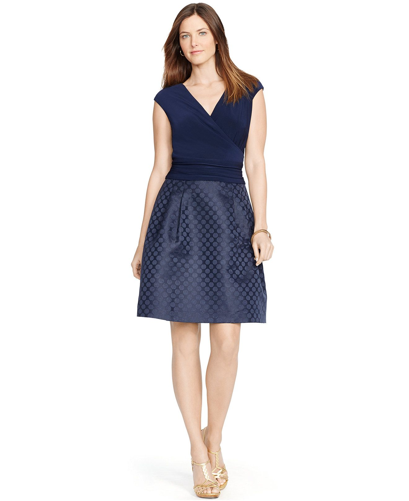 American living jacquard surplice dress dresses women macys american living jacquard surplice dress dresses women macys 89 ombrellifo Images