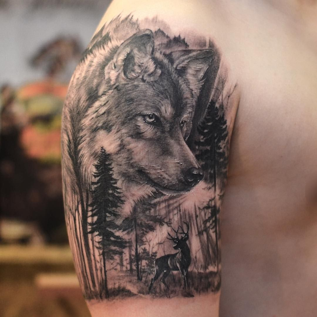 44852c545 Wolf Tattoo/other tattoos (arm sleeves) /some ideas for a arm sleeve tattoo