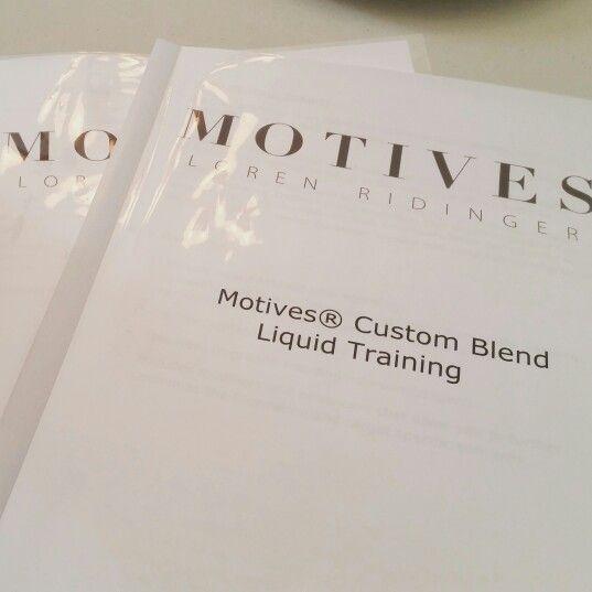Motives custom blend training with Lisa Kostka!