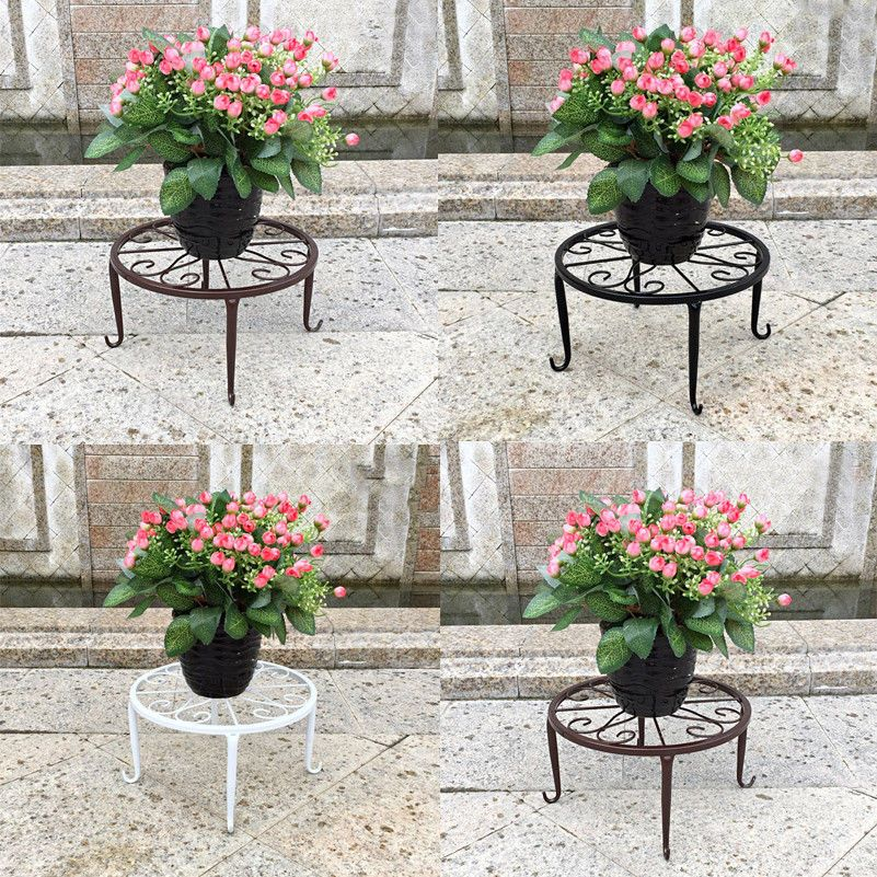 Metal Plant Pot Stand Flower Base Holder Rack Round In Outdoor Garden Home Decor Plant Holder Ideas Of Plant Hold Flower Pots Plant Stand Metal Plant Stand